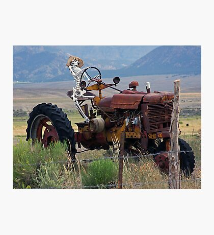 Overworked Farmer Photographic Print