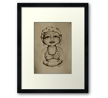 Bather drawing Framed Print