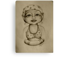 Bather drawing Canvas Print