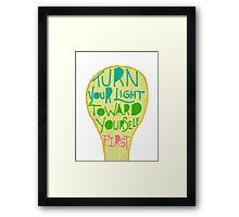 Turn On the Light!!! Framed Print