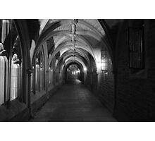 Princeton University, Holder Hall Corridor at Night Photographic Print