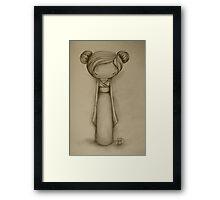 Kokeshi drawing Framed Print