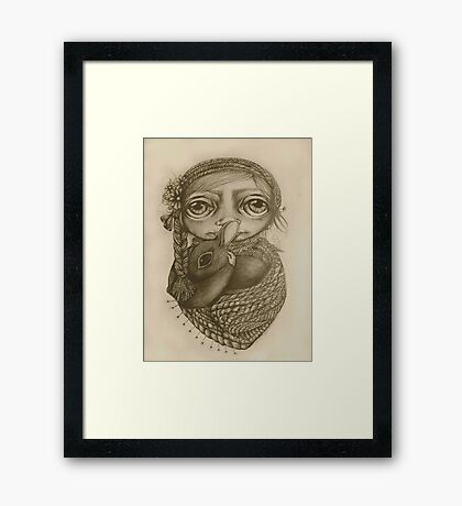 Lost and Found drawing Framed Print