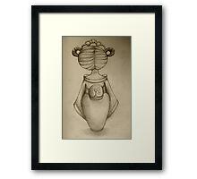 Little Geisha drawing Framed Print