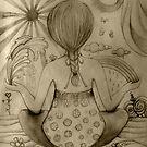 Serenity drawing by © Karin  Taylor