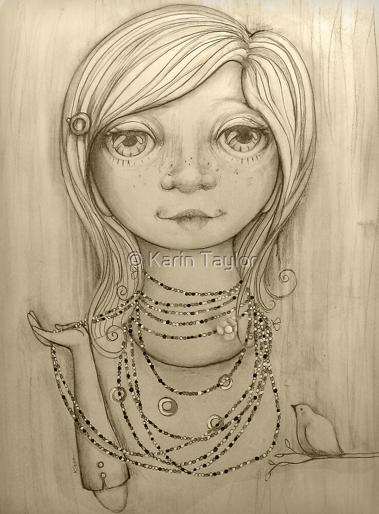 Love Beads drawing by © Karin Taylor