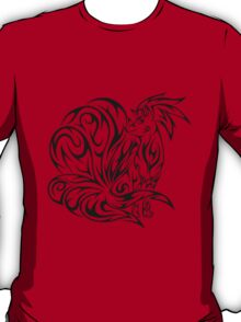 pokemon ninetales fox anime shirt T-Shirt