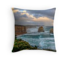 Sun setting over the twelve apostles in landscape Throw Pillow