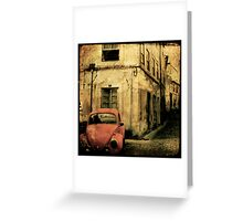 beetle coimbra - Portugal Greeting Card
