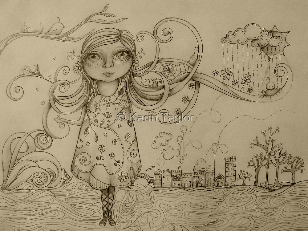 Summer Breeze drawing by © Karin Taylor