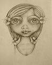 Wahine drawing by © Karin Taylor