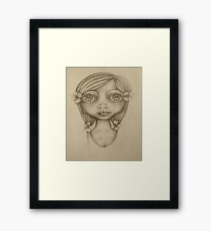 Wahine drawing Framed Print