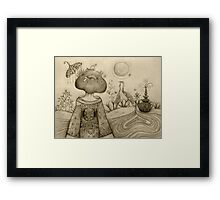 Teapot Topiary drawing Framed Print