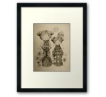 Zen Garden drawing Framed Print