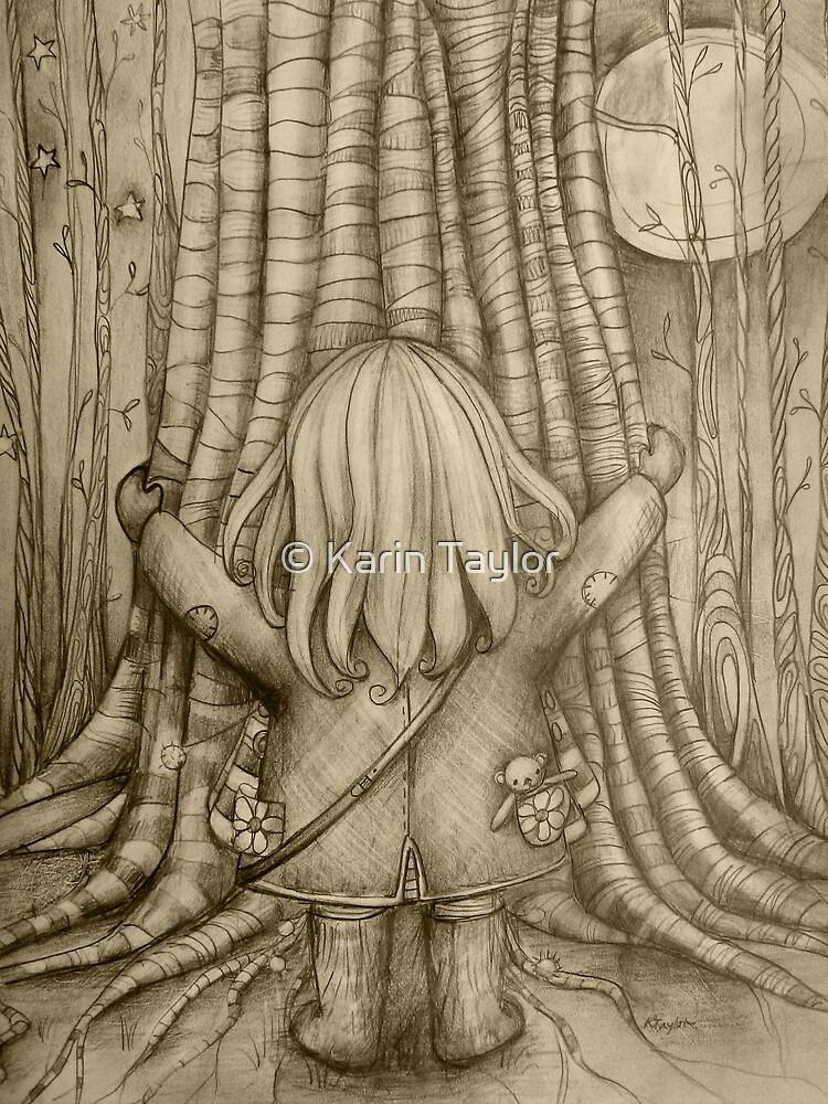 Tree Hugs drawing by © Karin Taylor