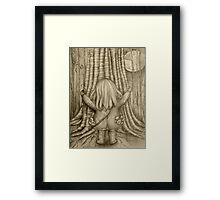Tree Hugs drawing Framed Print