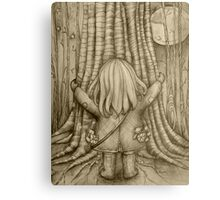 Tree Hugs drawing Canvas Print
