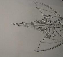 Dragon Sword Tattoo by Jacqueline Dickin