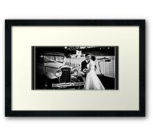 Chris&Coby - CarKiss Framed Print