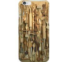 Wooden kitchen utensils iPhone Case/Skin