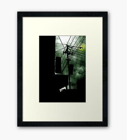 Dangerous Skies Framed Print