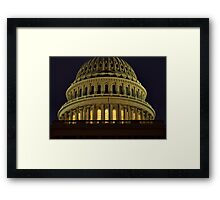 US Capitol Dome Framed Print