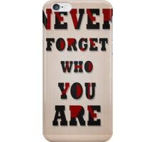 be your self iPhone Case/Skin