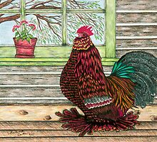 """""""April's Rooster"""" by franticflagwave"""