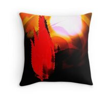 cactus sunset...an abstract Throw Pillow