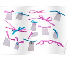 Colorful tags Poster