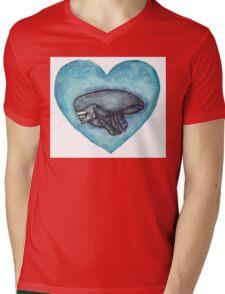 Xenomorph Love Mens V-Neck T-Shirt