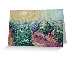 Plum Orchard Greeting Card