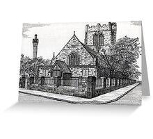 182 - ST. CUTHBERT'S CHURCH, BLYTH - DAVE EDWARDS - INK - 1991 Greeting Card