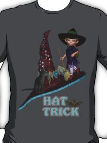 Hat Trick  .. A cute witch and black cat T-Shirt