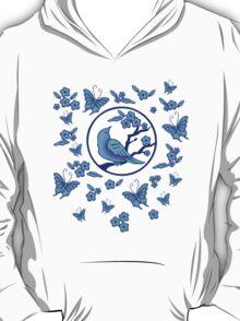 Bird, Butterflies, and Blossoms T-Shirt