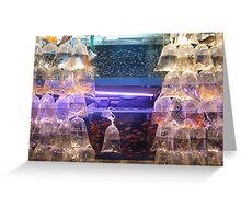 fish market hongkong Greeting Card