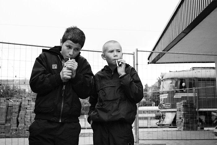 Children of railway station by John L