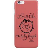 Emily Dickinson Quotes iPhone Case/Skin