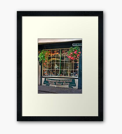 The Teddy Bear Shop Framed Print