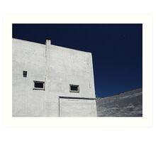 Blue sky and building Art Print