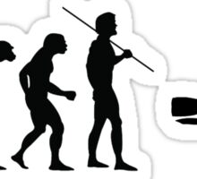 Evolution to Scuba Diver Sticker