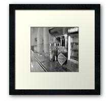 cooling agent Framed Print