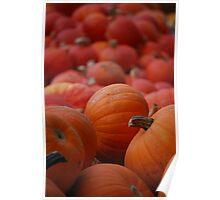 Flood of Pumpkins Poster