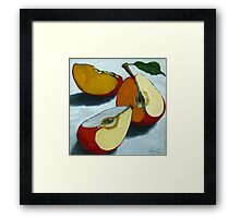 Sliced Apples Framed Print