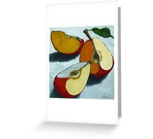Sliced Apples Greeting Card