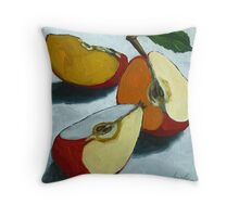Sliced Apples Throw Pillow