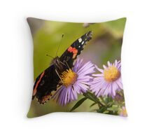 The Red Admiral 2 Throw Pillow
