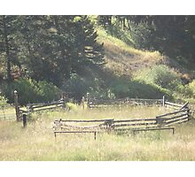 Old Stock Corral Photographic Print