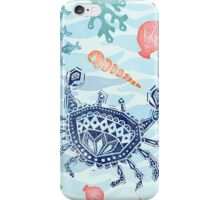 Crabby under the sea pattern iPhone Case/Skin