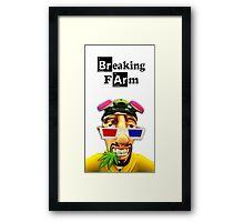 Breaking Farm 3D face Framed Print